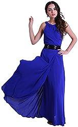 D&S Women's A-line Dress (Dark Blue, XL)