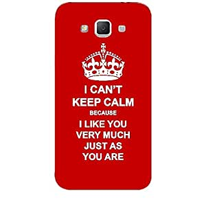 Skin4gadgets I CAN'T KEEP CALM BECAUSE I Like You Very Much Just As You Are - Colour - Red Phone Skin for SAMSUNG GALAXY GRAND MAX (G720)