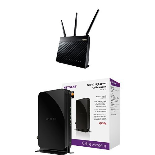 ASUS Wireless AC1900 Dual Band Gigabit Router & NETGEAR ...