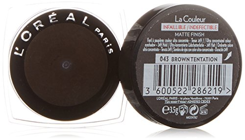 L'Oreal, Ombretto Color Infallible, N. 043, Brown Temptation, 3,5 g
