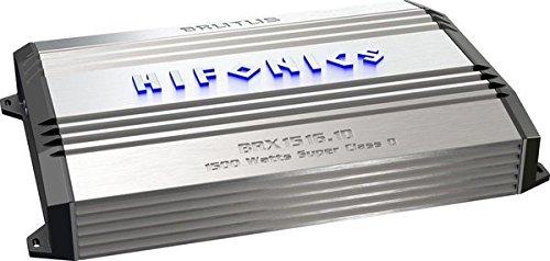 Hifonics BRX1516.1D Brutus Mono Super D-Class Subwoofer Amplifier, 1500-Watt