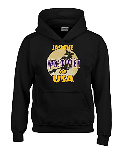 Halloween Costume Jasmine Wicked Witch Of Usa Great Personalized Gift - Kids Hoodie