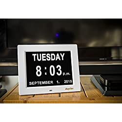 Memory Loss Digital Calendar Day Clock / with Non-Abbreviated Day & Month.