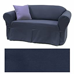 Solid Navy Furniture Slipcover Sofa 408