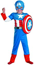 Disguise Captain America Toddler Muscle Costume