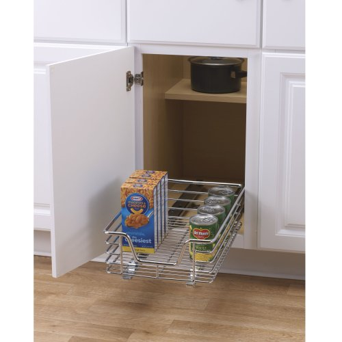 Kitchen Cabinet Organizers Pantry Storage: Cabinet Organizer Sliding Rack Kitchen Storage Cupboard