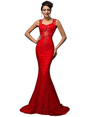 Lace slim fit maxi evening party dresses amazon co uk clothing