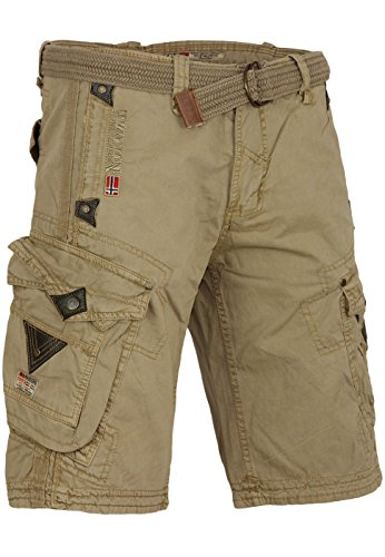 Geographical Norway bermuda shorts Perle Men, Farbe:Beige;Hosengröße:L