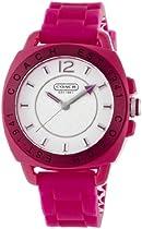 NEW Coach Signature Boyfriend Silicon Rubber Pink Watch #14501354 MSRP $158