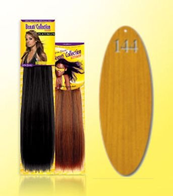 Beauti-Collection-Human-Hair-Weave-Yaki-Weave-10-144-Blonde-Size-10