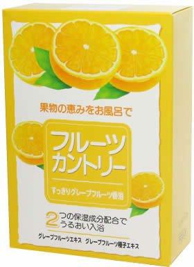 フルーツカントリー すっきりグレープフルーツ香浴 25g5包(入浴剤)