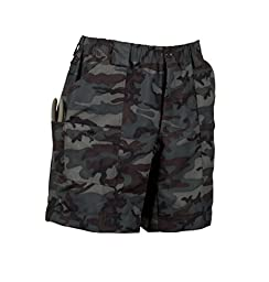 AFTCO Bluewater M01L Long Traditional Fishing Shorts - Dark Camo - 32\