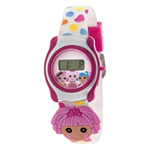 Kids Lalaloopsy Lololoopsy LCD Digital Watch With slide-on Characters