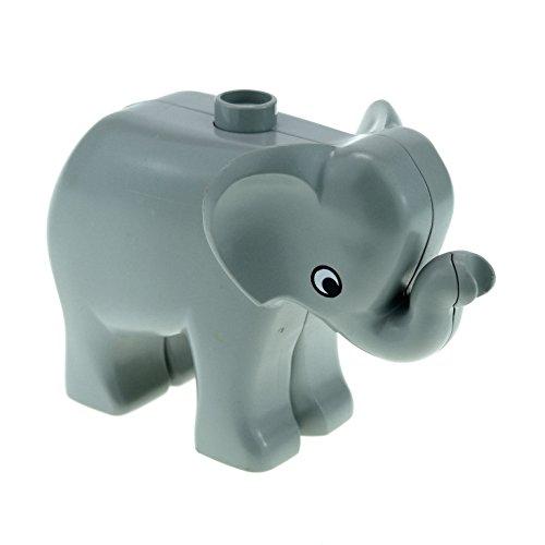 1 x Lego Duplo Tier Baby Elefant klein neu-hell grau Tier Zirkus Zoo Park Safari elephc01pb01