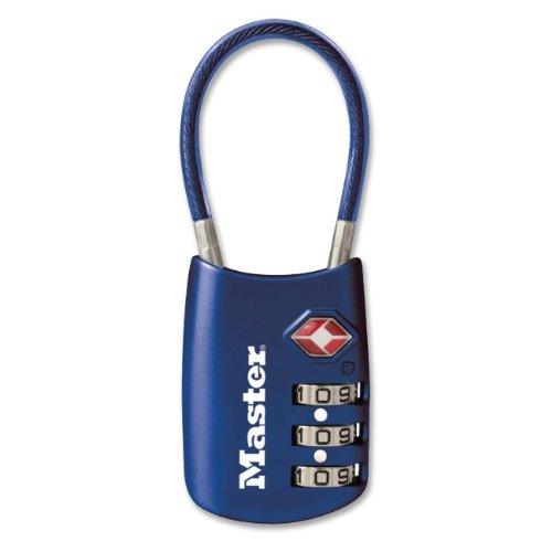 Master Lock 4688DBLU TSA Accepted Cable Luggage Lock, Blue
