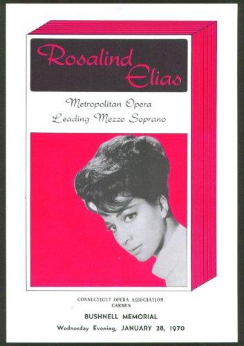 Mezzo Soprano Rosalind Elias Flyer Bushnell Hartford Ct 1970