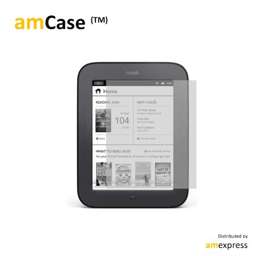 amCase Premium Screen Protector Film Matte Clear Anti-Glarefor Barnes and Noble Nook Simple Touch Reader 2-Pack Latest Generation Discount !!