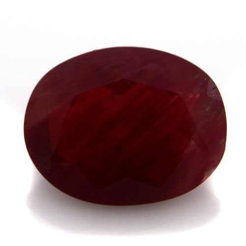 Natural Africa Red Andesine Loose Gemstone Oval Cut 9*7mm 1.70cts SI Grade