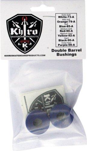 Khiro Double Barrel Bushing Set 85a Soft Blue Skateboard Bushings (Soft Barrel Bushings compare prices)