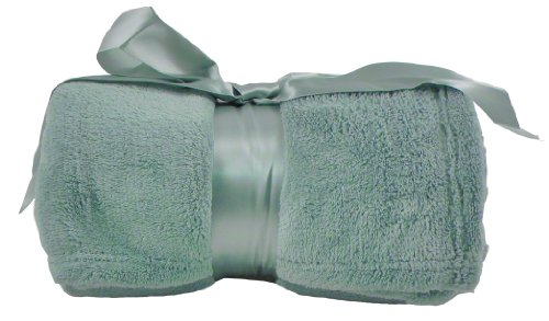 Coral Soft Fleece Blanket Throws -Low Price - Sage front-1025974