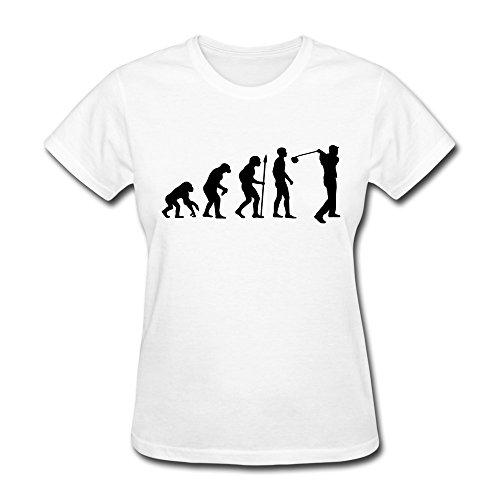 Women Golf Evolution Short-Sleeve T Shirts Size Xs Color White