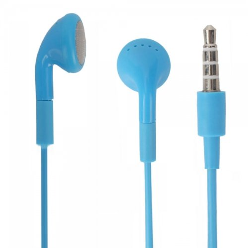 Blue 3.5Mm Stereo Fashion Earphone Headsets With Microphone For Htc Trophy (By Things Needed)