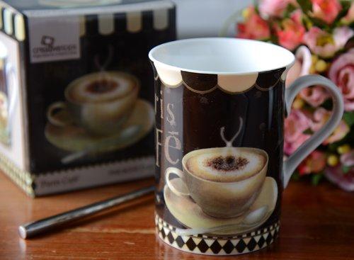 Paris Cafe Fine Bone China Mug In A Gift Box