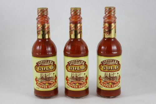 Louisiana Gold Red Pepper Sauce with Tabasco Peppers 5 fl. oz. (Pack of 3) (Louisiana Gold Sauce compare prices)