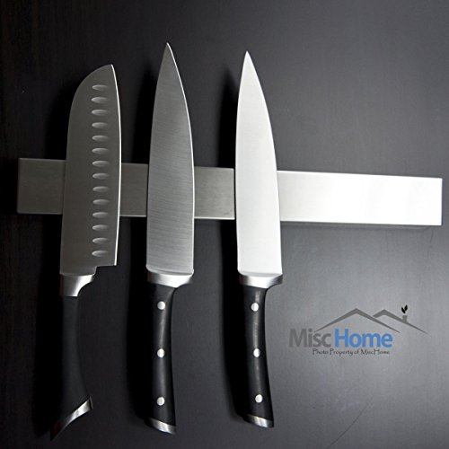 +Hot+ 16 Inch Stainless Steel Magnetic Knife Holder High Quality Magnetic Knife Strip, Magnetic Knife Bar Stainless Steel Easy to