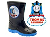 KIDS BOYS CHILDRENS THOMAS THE TANK ENGINE WELLIES SNOW WARM WINTER WELLINGTON BOOTS NAVY BLUE SIZE UK 4-10 INFANT