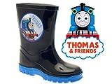KIDS BOYS CHILDRENS THOMAS THE TANK ENGINE WELLIES SNOW WARM WINTER WELLINGTON BOOTS NAVY BLUE SIZE UK 4-10 INFANT