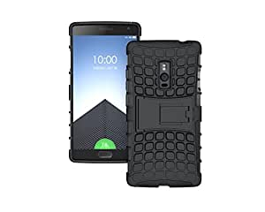 Mobicrafft Rugged Shock Proof Dual-Layer Case with Built-In Kickstand for OnePlus Two (Black)