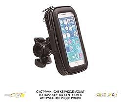 CNCT Waterproof Bike Phone Mount - Phone Holder for BIKE HANDLEBAR - BABY STROLLER - GOLF CART STEERING WHEEL - Suitable for phone upto 4.5