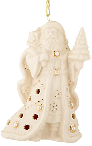 Lenox Florentine and Pearl Santa Ornament