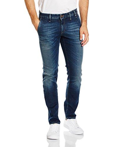 Jeckerson 5pkts Patch Slim_Comfort Denim oz 10, Jeans Uomo, D385 / Mid Blu Sand, 36
