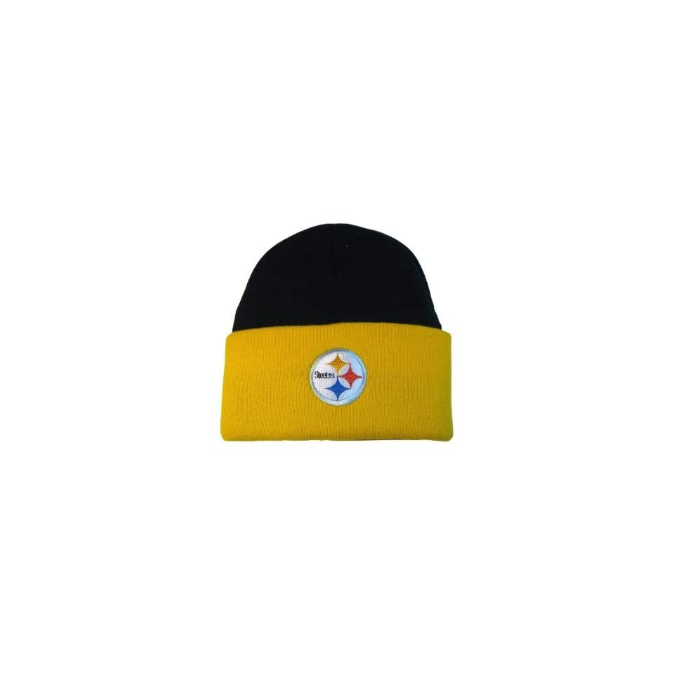 NFL Pittsburgh Steelers Classic Cuff Beanie   Black / Yellow