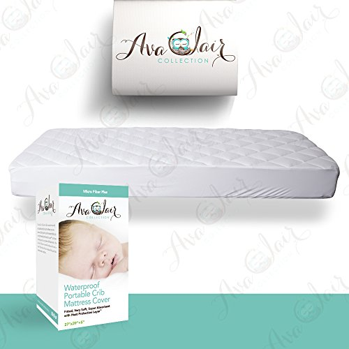 ACC-Pack-N-Play-Crib-Mattress-Pad-Cover-Fits-MOST-Mini-Cribs-Waterproof-Dryer-Friendly-Best-Fitted-Crib-Protector-Mini-Portable-Mattresses-Comfy-Hypoallergenic-Best-Value