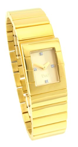 D&G Ladies Scotland Quartz Watch DW0329 With Gold Analogue Dial And Bracelet