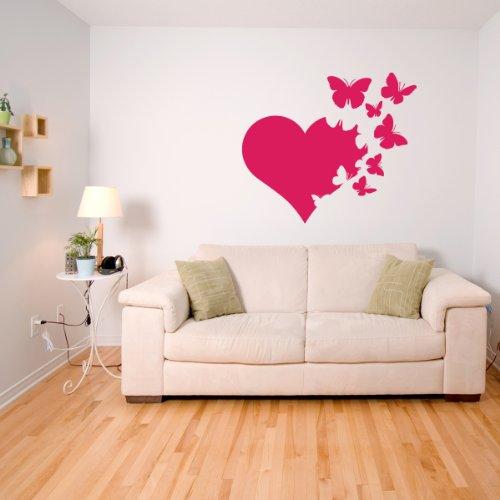 Cuore di Burro - Adesivi Murali - Wall Stickers per la decorazione della casa e delle camerette