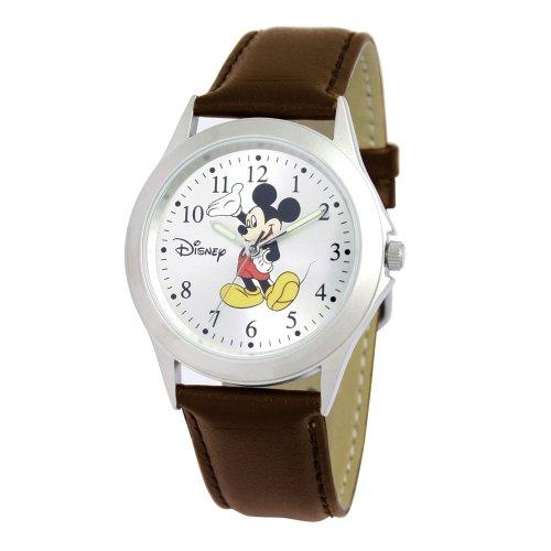 Ewatchfactory Men's 5096730034 Disney Mickey Mouse Silver Sunray Dial Watch