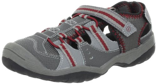 Stride Rite Riff Water Sandal (Toddler/Little Kid/Big Kid),Grey/Red,12.5 W Us Little Kid front-751787