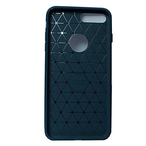 iPhone 7Plus Case Matte Finish Flexible Durability Durable Anti-Slip TPU Defensive CaseTPU Bumper(2016)Blue (Semi Radiator Cover compare prices)