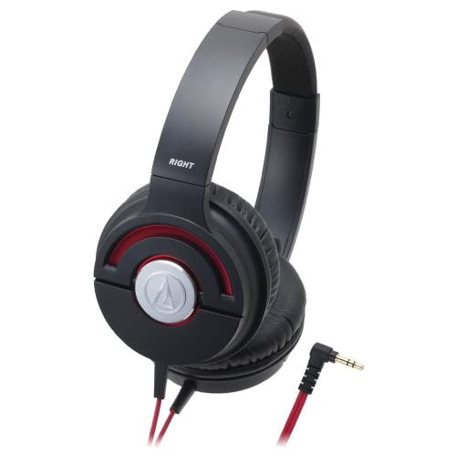 ヘッドホン おしゃれ audio-technica SOLID BASS ATH-WS55X BLACK REDをおすすめ