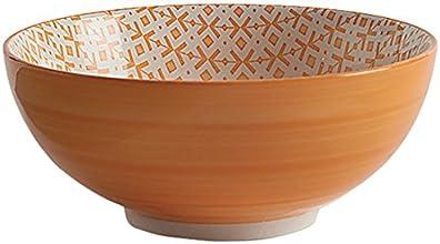 Fill 21347 Set 4 Ciotole in Stoneware, Collezione Althea, Puntocroce Arancio