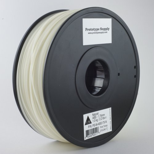 Prototype Supply ABS 3D Printing Filament 1.75mm Natural 1kg/roll (2.2 pounds) - Discontinued Product