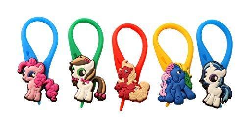 AVIRGO 5 pezzi Ponies Colorato Soft Zipper Pull Pendaglio di Zaino di Giacca Set # 86 - 4