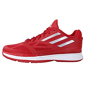 Adidas Men's Pro Smooth Lo, RED/SILVER/WHITE, 9.5 M US