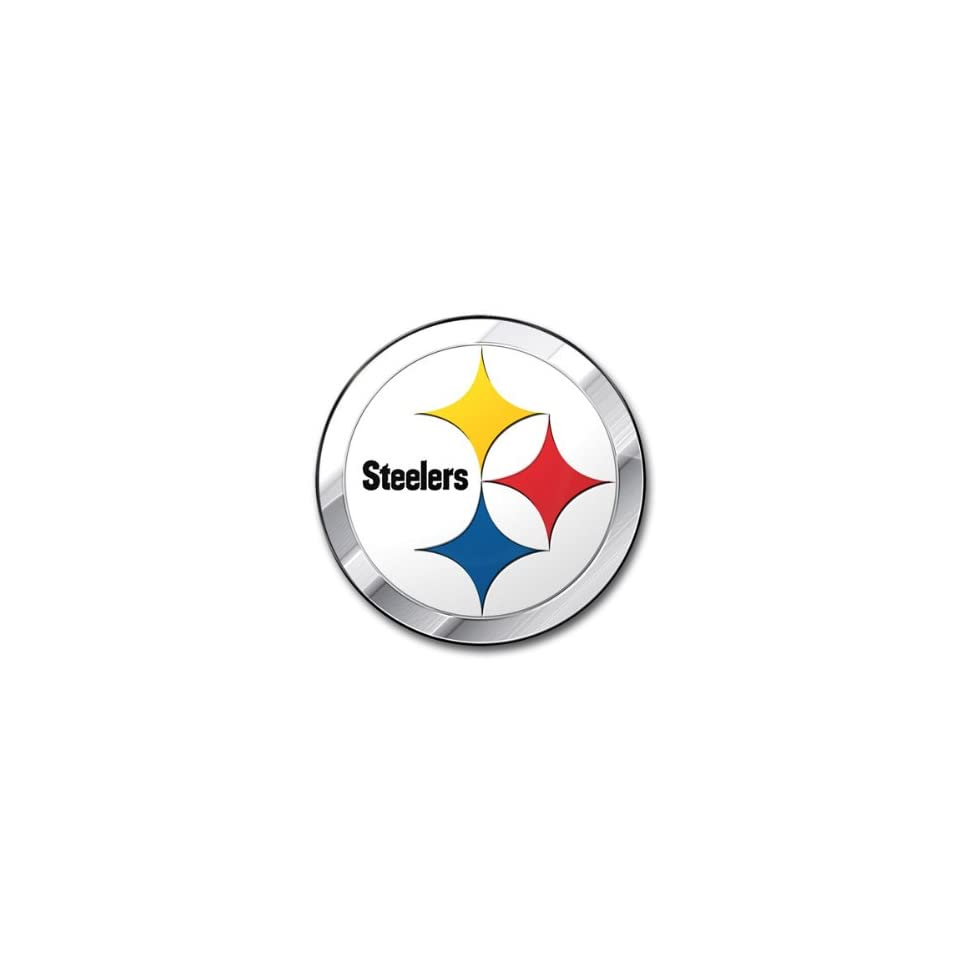 6459a818d Pittsburgh Steelers 3D COLOR Chrome Auto Emblem Home Decal NFL Football  Sports Fan T Shirts Sports   Outdoors