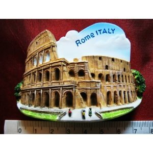 Colosseum Rome Italy Italian Europe Eu High Quality Resin 3D fridge Refrigerator Thai Magnet Hand Made Craft