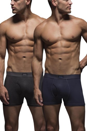 mens-2-pack-jeep-cotton-plain-fitted-key-hole-trunk-boxer-shorts-navy-charcoal-s
